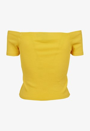 Print T-shirt - chrome yellow