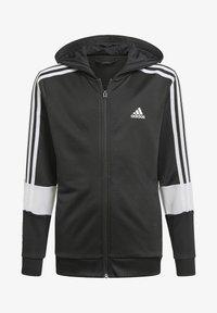 adidas Performance - STRIPES AEROREADY PRIMEBLUE HOODIE - Vetoketjullinen college - black - 0