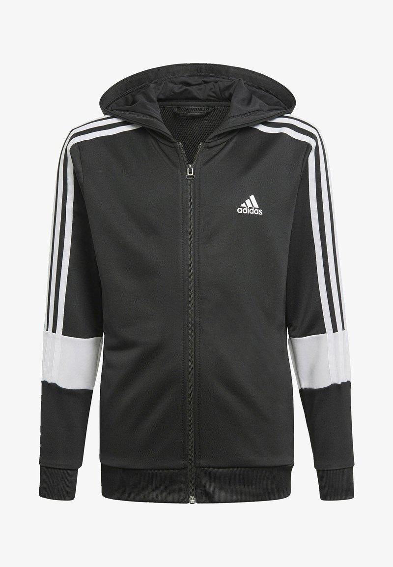 adidas Performance - STRIPES AEROREADY PRIMEBLUE HOODIE - Vetoketjullinen college - black