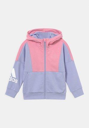UNISEX - Zip-up sweatshirt - violet tone/light pink