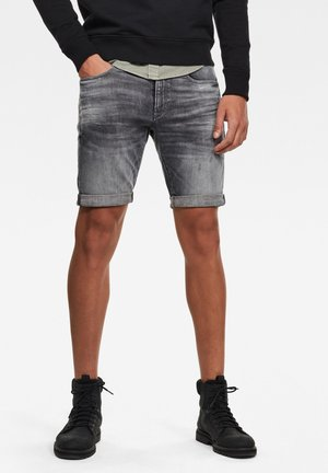 Denim shorts - vintage basalt destroyed