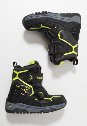 TROOPER RTX - Winter boots - jet black/lime