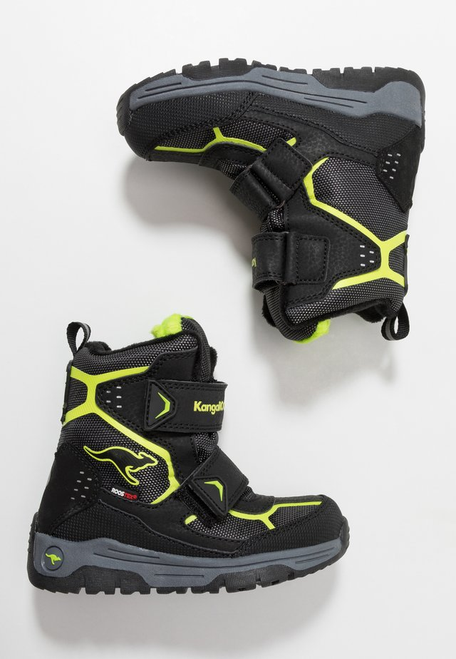 TROOPER RTX - Snowboots  - jet black/lime