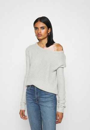 OPHELITA OFF SHOULDER JUMPER - Strickpullover - grey