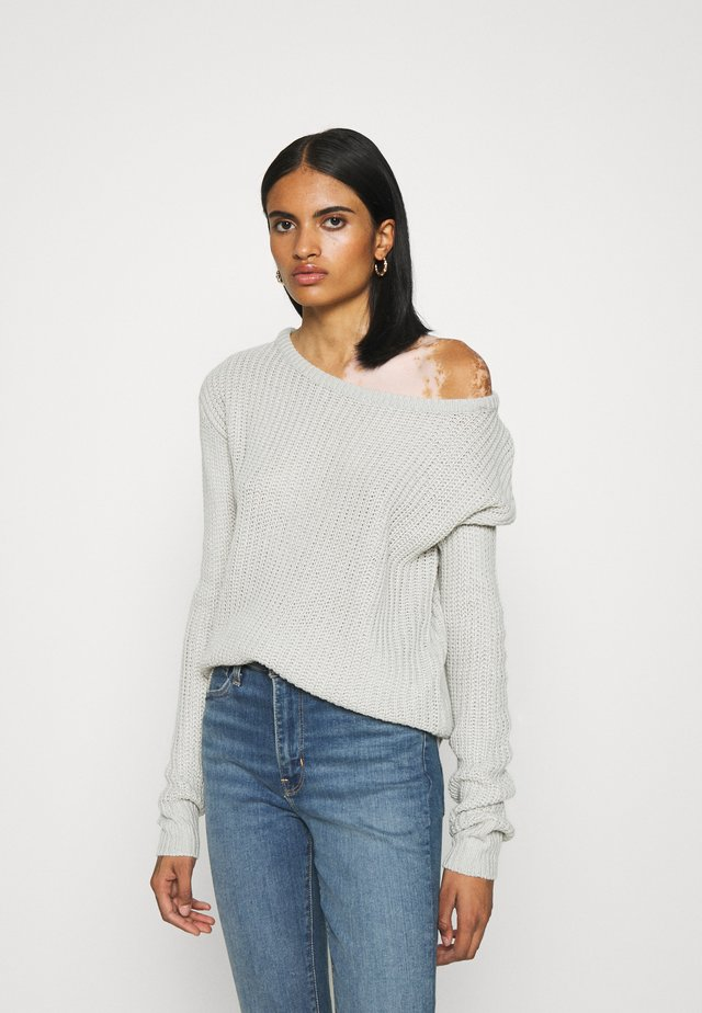 OPHELITA OFF SHOULDER JUMPER - Svetr - grey