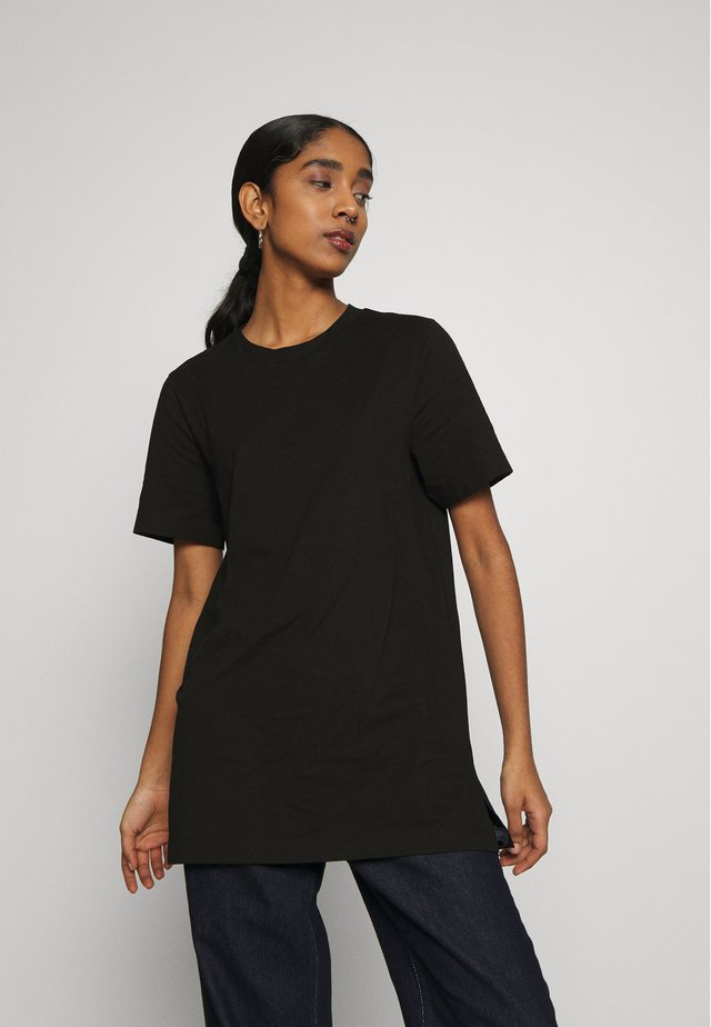 MANDY LONG TEE - T-paita - black