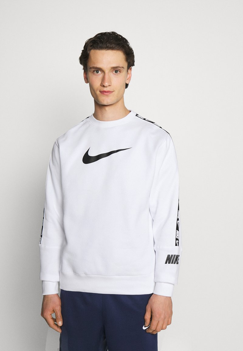 Nike Sportswear - REPEAT CREW - Sweatshirt - white/black