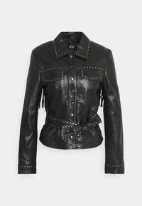 Ibana - JANICE - Leather jacket - black - 0