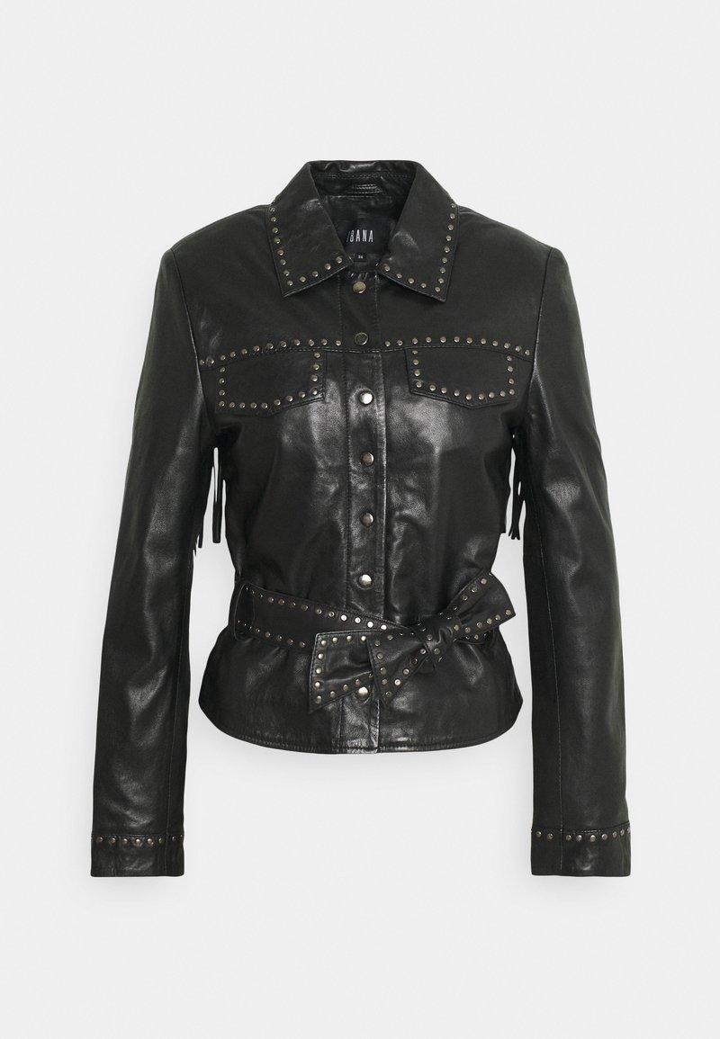 Ibana - JANICE - Leather jacket - black