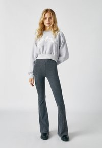 PULL&BEAR - Trousers - mottled dark grey