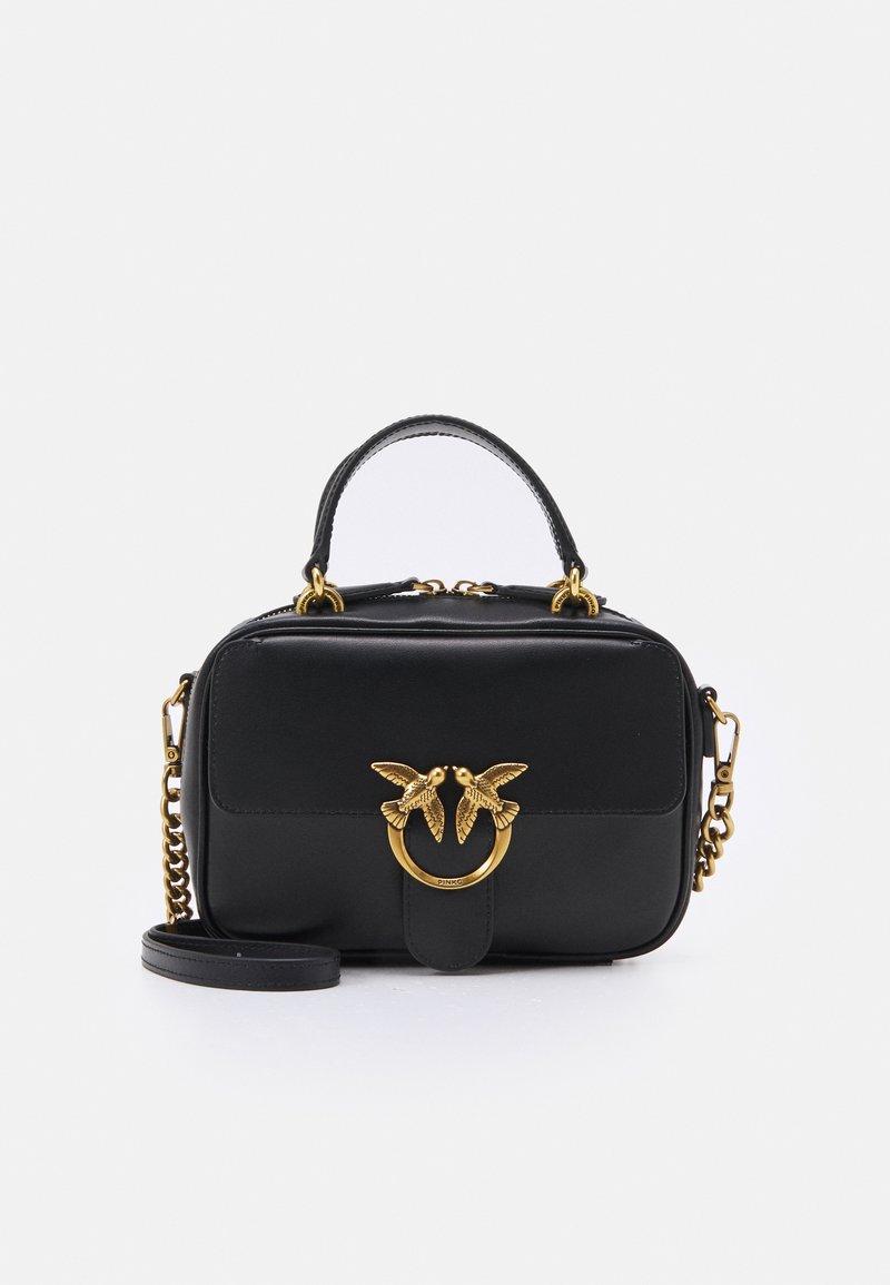 Pinko - LOVE MINI SQUARE SIMPLY ANTIQUE - Across body bag - black