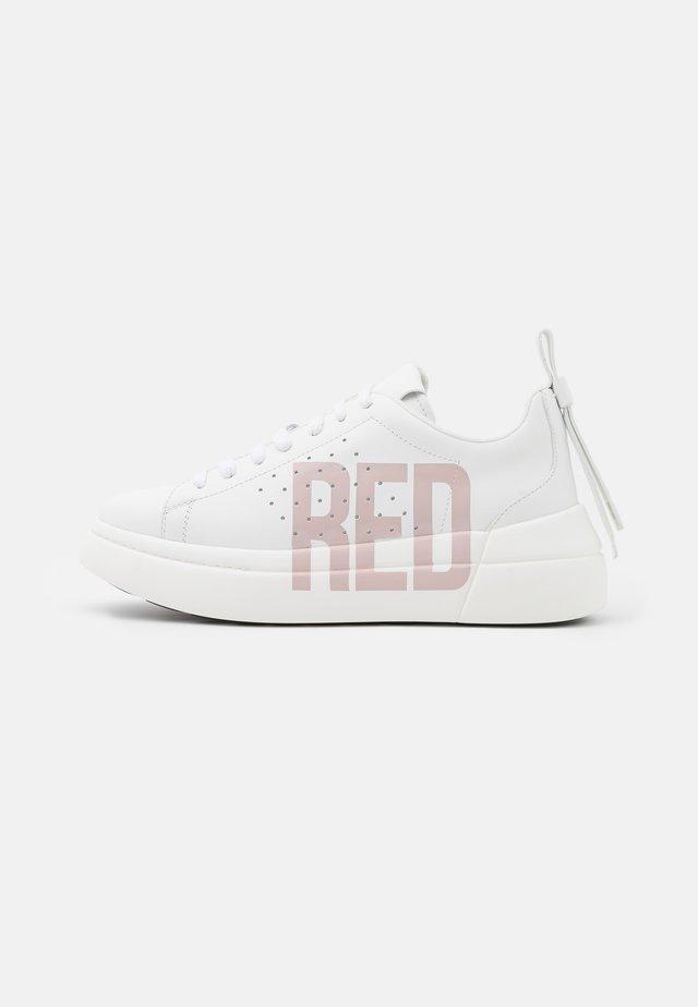 Sneakers laag - bianco/nude