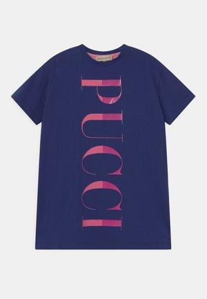 Žerzejové šaty - blu/rosa