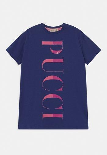 Jersey dress - blu/rosa
