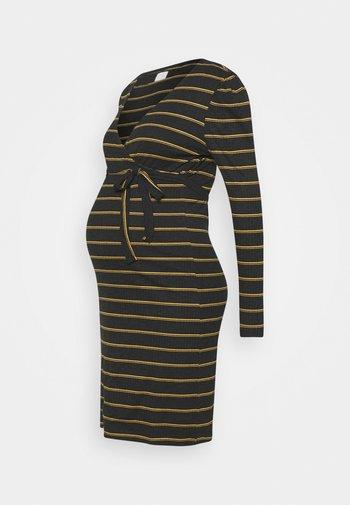 NURSING DRESS - Žerzejové šaty - dark grey melange/autumn blaze