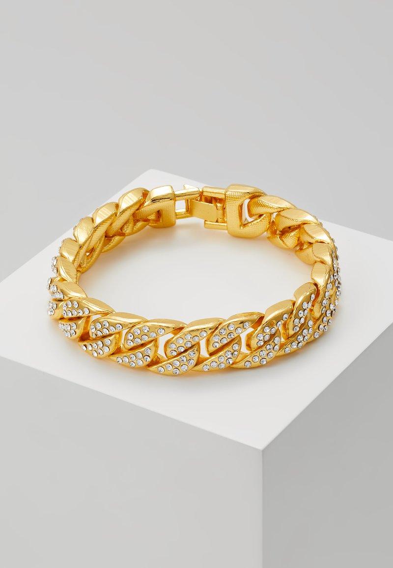 Urban Classics - BIG BRACELET WITH STONES - Armband - gold-coloured