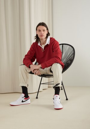 AIR 1 - Sneaker low - white/gym red-black