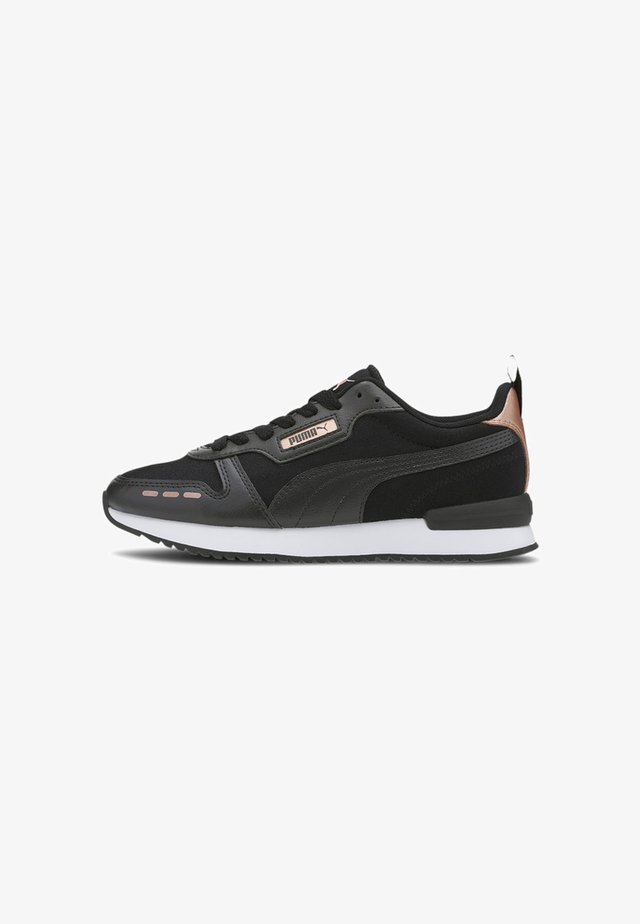 Sneakers laag - black- black-rose gold