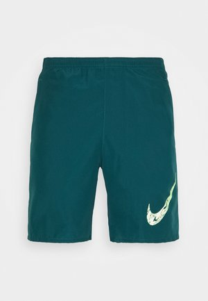 RUN SHORT - Pantalón corto de deporte - dark teal green/ghost green/reflective silver
