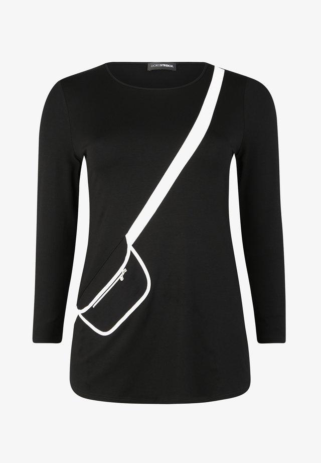 MIT AUFGESETZTER TASCHE - Tunica - schwarz/weiß