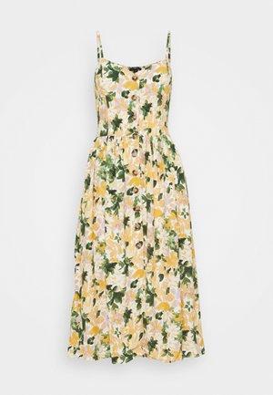BUTTON DRESS - Vapaa-ajan mekko - multi-coloured/light yellow