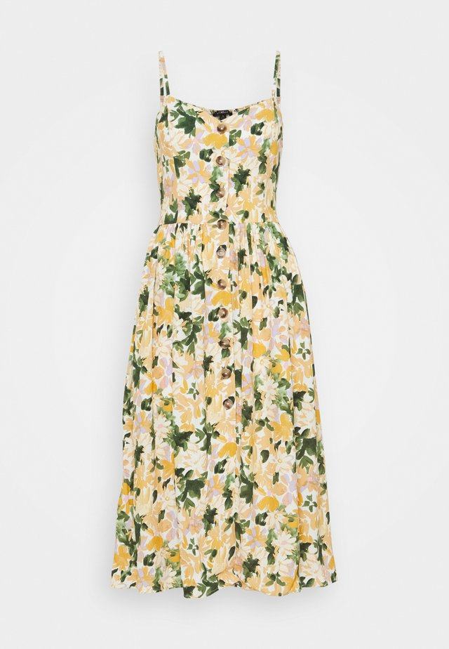 BUTTON DRESS - Korte jurk - light yellow