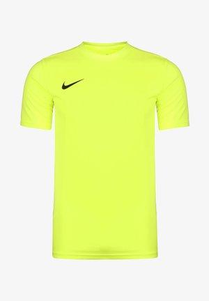 DRI-FIT PARK - Basic T-shirt - volt / black
