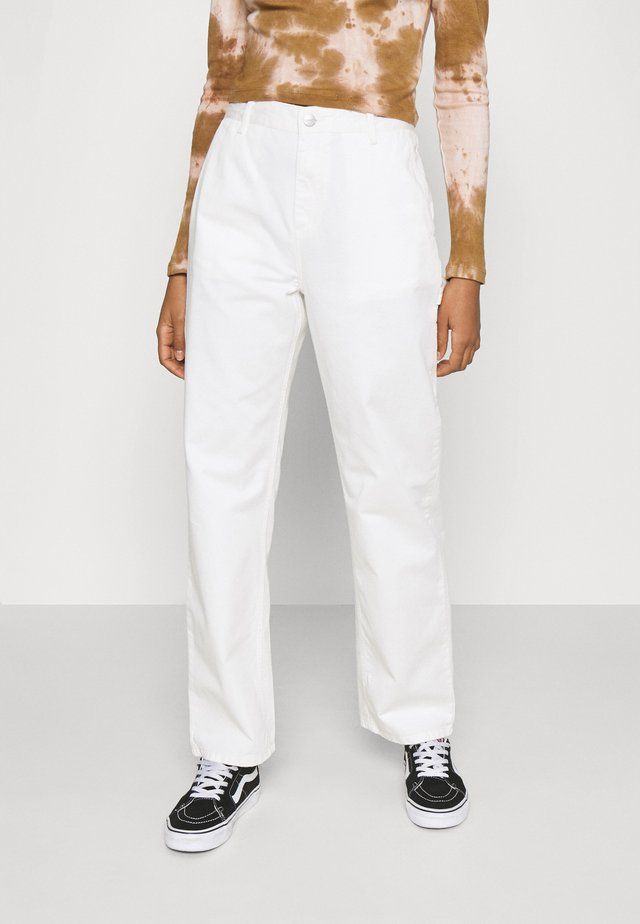 PIERCE PANT STRAIGHT - Bukser - off-white
