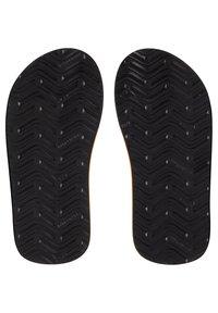 Quiksilver - MONKEY ABYSS YT  - T-bar sandals - black/orange/orange - 2