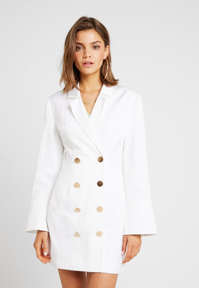 MAGNETIC BLAZER DRESS - Robe fourreau - ivory