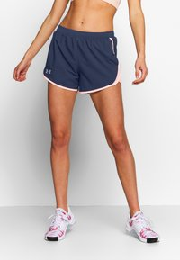 Under Armour - FLY BY SHORT - Pantalón corto de deporte - blue ink/peach frost - 0