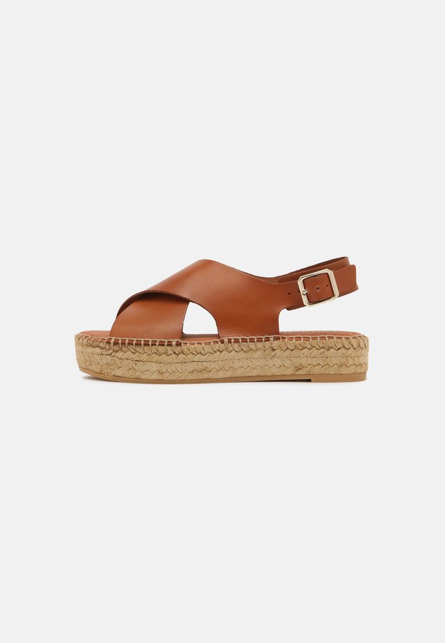 Sandaalit nilkkaremmillä - cuir