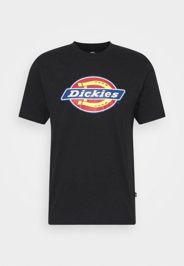 Dickies ICON LOGO TEE - T-shirt z nadrukiem - black/czarny Odzież Męska IZWJ