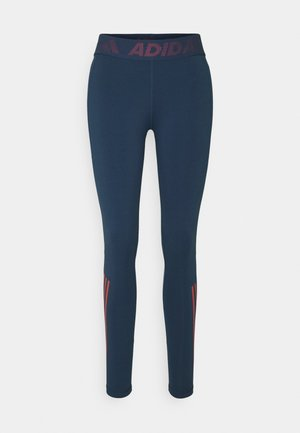 TECHFIT 3-STRIPES LONG TIGHTS - Tights - crew navy/crew red