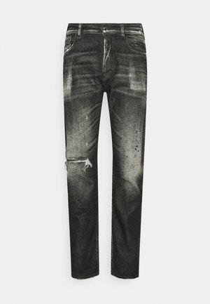 TINMAR BROKEN EDGE - Straight leg -farkut - black denim