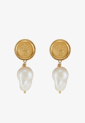 HERCULES LOST SEA PIN EARRING SINGLE - Earrings - gold