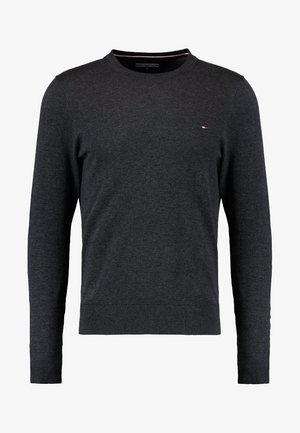 C-NECK - Stickad tröja - charcoal heather
