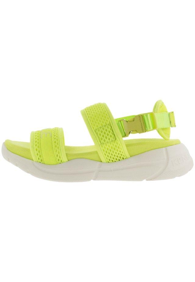 NOARI - Walking sandals - neon yellow