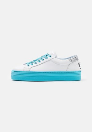 LACE LOGOMANIA - Sneakersy niskie - turquoise