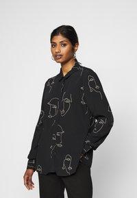ICHI PETITE - IHCARISSA - Button-down blouse - black - 0