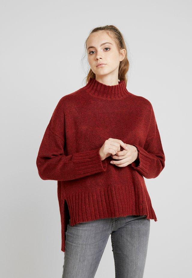 Jersey de punto - dark red