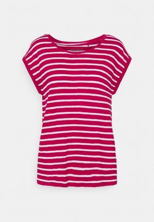 TEE STRIPE - Print T-shirt - dark pink