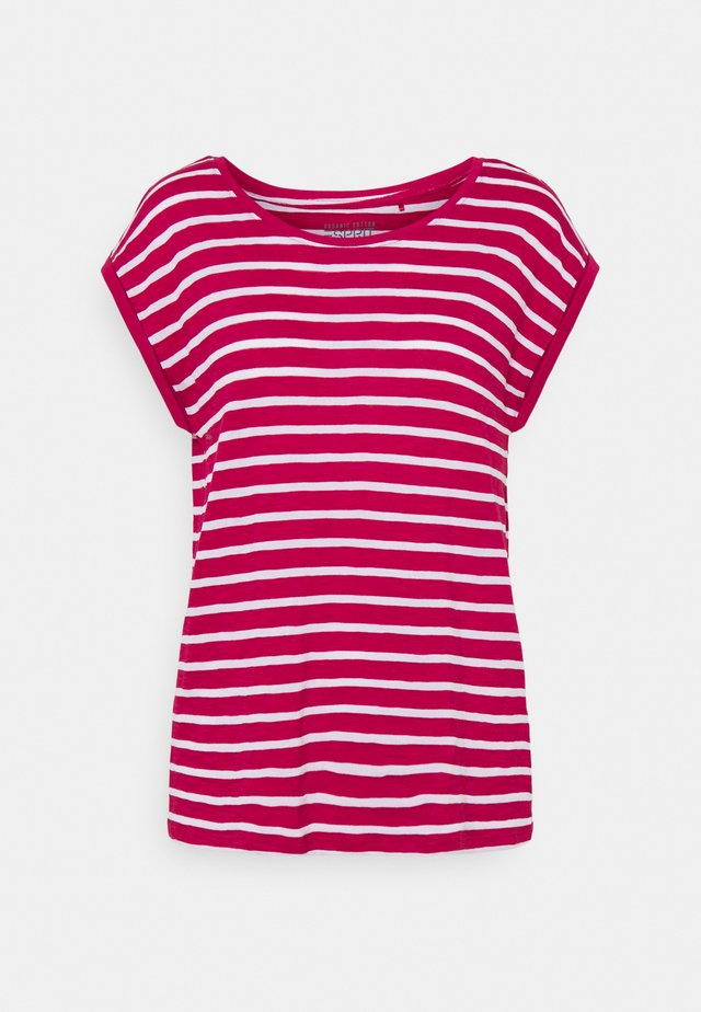 TEE STRIPE - Printtipaita - dark pink
