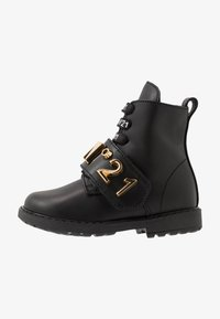 N°21 - Lace-up boots - black/gold - 1