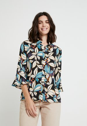 SILIE FLOWER - Button-down blouse - blue stone