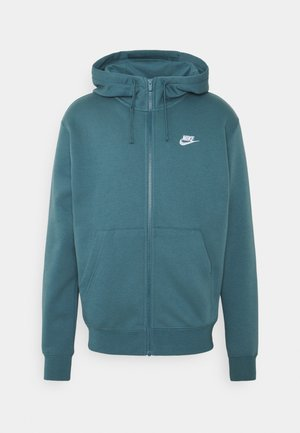 CLUB HOODIE - Huvtröja med dragkedja - ash green/white