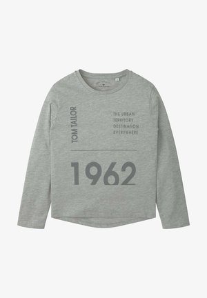 Long sleeved top - drizzle melange|gray