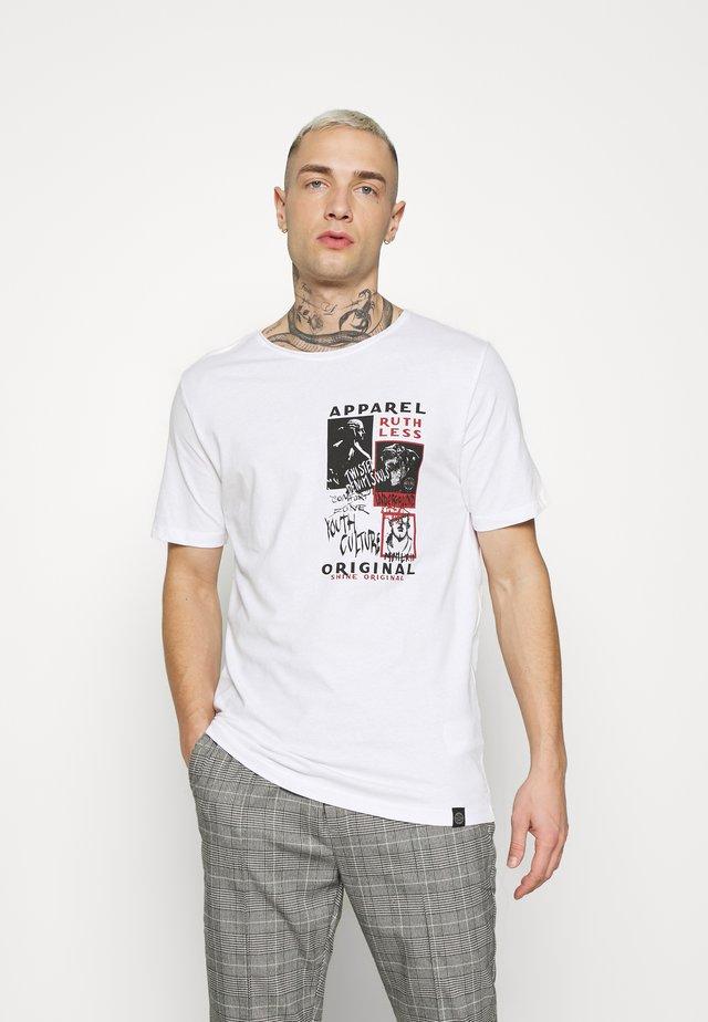 PRINTED TEE - T-shirt imprimé - white