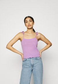 Pieces - PCTHEIA STRAP - Top - sheer lilac - 0