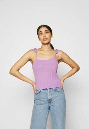 PCTHEIA STRAP - Top - sheer lilac
